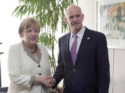 Angela Merkel und Giorgos Papandreou