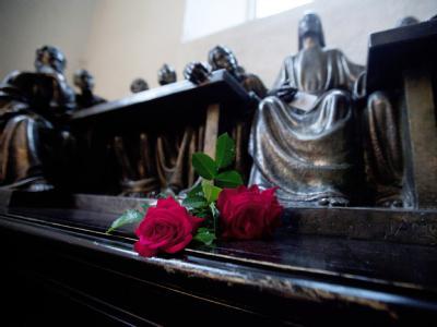 Trauer in Oslo: Blumen in der Kathedrale der norwegischen Hauptstadt.