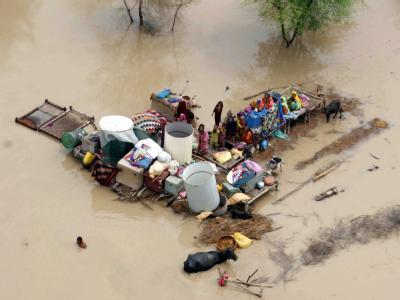 Mensch und Tier waren im vergangenen Jahr den Wassermassen völlig ausgeliefert. Fast 2000 Menschen kamen ums Leben. (Archivbild)