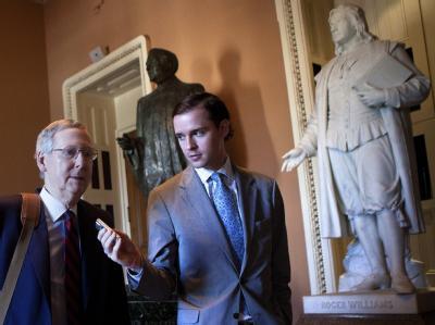 Senator Mitch McConnell schlug am Sonntagnachmittag optimistischere Töne an.