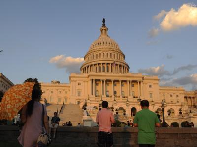 Das Kapitol in Washington: Schauplatz eines beispiellosen Politdramas.