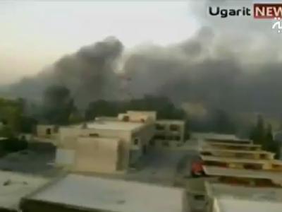 Rauchschwaden �ber Hama