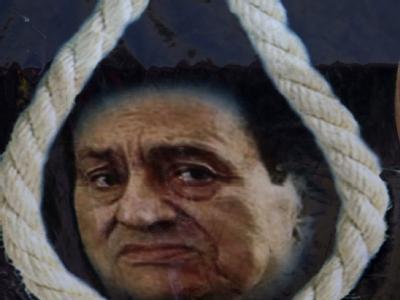 Hassplakat gegen Mubarak: Am ersten Prozesstag waren solche Poster in Kairo zu sehen.