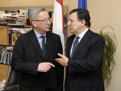 Jean-Claude Juncker und Jos� Manuel Barroso