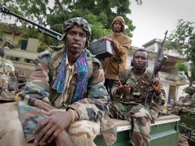 Soldaten in Mogadischu