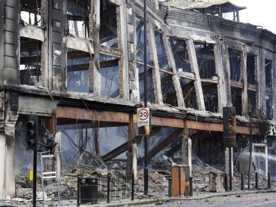 Zerstörung in Tottenham