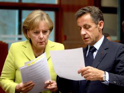 Der französische Präsident Nicolas Sarkozy und Bundeskanzlerin Angela Merkel unternehmen einen neuen Anlauf zur Beruhigung der Finanzmärkte.