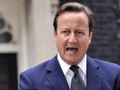 Seine Regierung hatte bisher den Einsatz von Wasserwerfern im Grundsatz ausgeschlossen: Britischer Premierminister David Cameron.