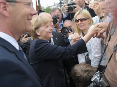 Bundeskanzlerin Angela Merkel: «Wir dürfen den 13. August 1961 und das Leid, das er über Millionen von Menschen gebracht hat, nie vergessen.»