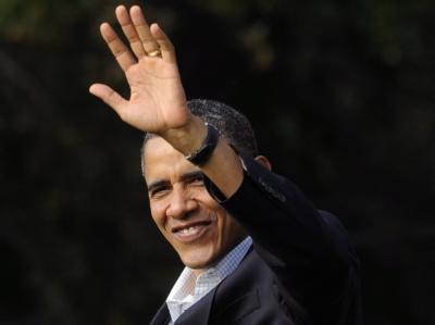 Barack Obama ist einer Bustour durch den Mittelwesten gestartet - die Republikaner verspotten die Aktion als «Obamas Schulden-Tour».