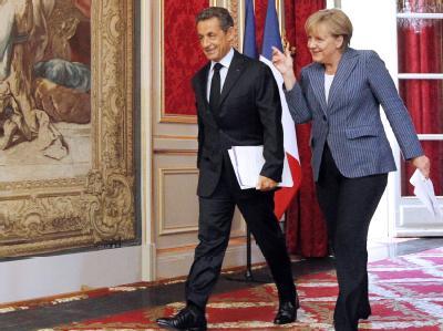 Haben Vorschläge für eine engere Koordination der Wirtschaftspolitik in der Eurozone gemacht: Bundeskanzlerin Angela Merkel und Frankreichs Präsident Nicolas Sarkozy.