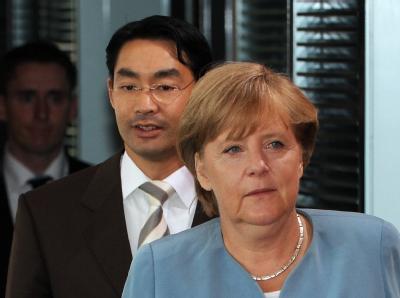 Merkel und R�sler