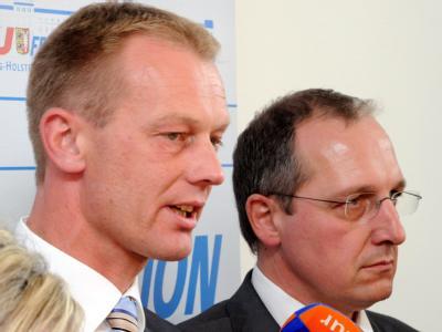 Neuanfang in Kiel: Fraktionschef Johannes Callsen (l) und der designierte Spitzenkandidaten Jost de Jager.