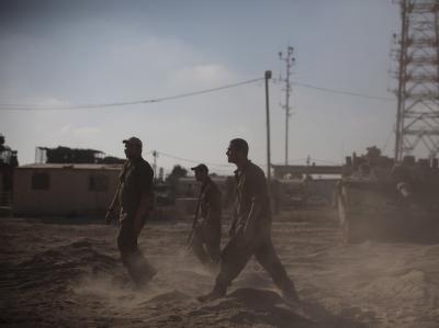 Israelische Soldaten an der Grenze zum Gaza-Streifens.