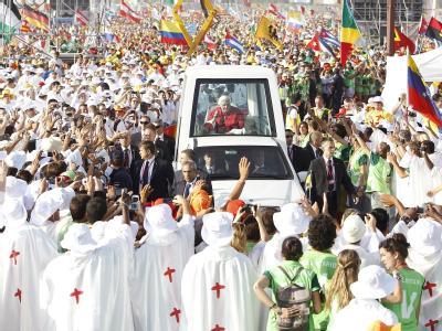 Mehr als eine Million Gläubige kamen zum Abschluss des Weltjugendtages.