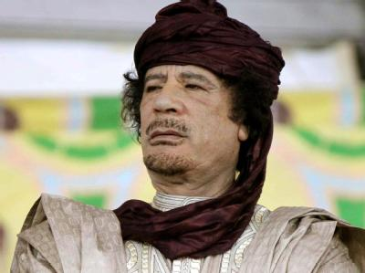 Wurde von vielen im Westen eher belächelt. Doch bei den Aufständen gegen sein Regime offenbarte er für jeden sichtbar seine ganze Brutalität: Muamamar al-Gaddafi (Archivbild)