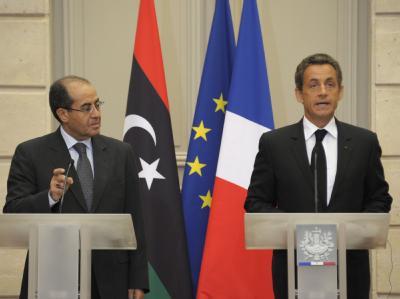 Dschibril und Sarkozy