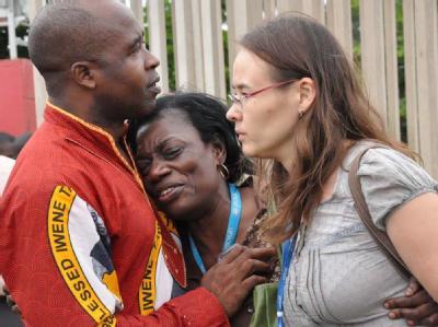 Überlebende des Brandanschlags in Nigeria stehen unter Schock.