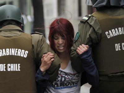 Mindestens 210 Menschen wurden bei Demonstrationen zum Streikende in Chile festgenommen.