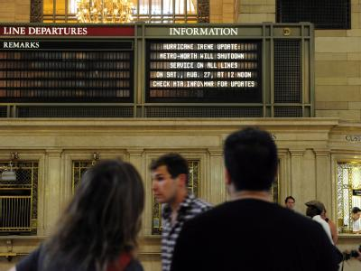 Hurrikan-Informationen in der New Yorker Grand Central Station.