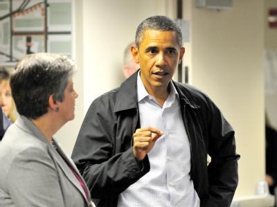 US-Präsident Barack Obama und Heimatschutzministerin Janet Napolitano informieren sich über die Lage.