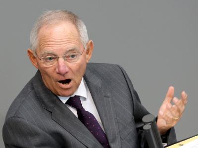 Bundesfinanzminister Schäuble: «Wir brauchen in einer globalisierten Welt eine gemeinsame europäische Währung.»