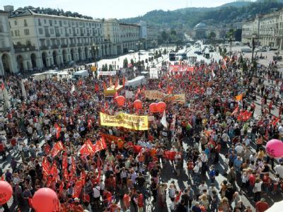 Streik in Turin