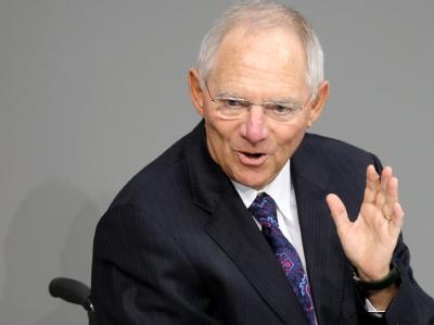 «Wir verschwenden Geld nicht für andere, sondern tun das Notwendige»: Bundesfinanzminister Wolfgang Schäuble (CDU). (Archivbild)