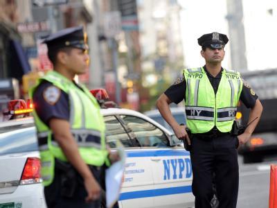 Polizisten in New York: Neue Drohungen verwandeln die Metropole in eine Festung.