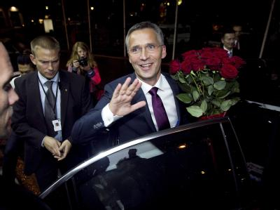 Die sozialdemokratische Arbeiterpartei von Ministerpräsident Stoltenberg wurde erneut stärkste Partei.
