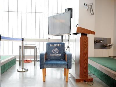 Palästinenser präsentieren vor UN eigenen Stuhl