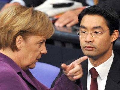 Einst strahlende Verbündete, heute sind Union und FDP ernüchtert - hier Merkel und Rösler.