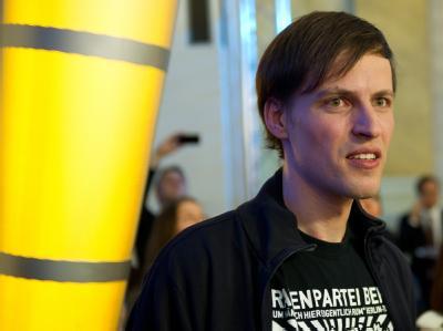 Shootingstar. Der Spitzenkandidat der Piratenpartei, Andreas Baum, führte die Piraten erstmals in ein deutsches Landesparlament. Foto: Soeren Stache/Archiv