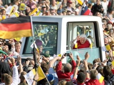 Papst Benedikt XVI. bei seinem letzten Besuch in Deutschland.