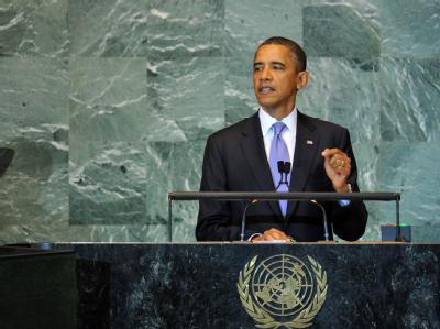 Ein «echter Frieden» könne nur von Israelis und Palästinenser selbst erreicht werden, sagte Obama bei der UN-Generaldebatte in New York.