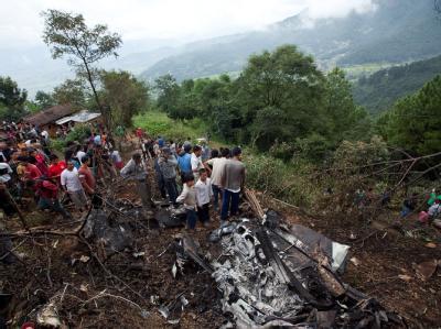 Bei einem Flugzeugabsturz in Nepal starben 19 Menschen.