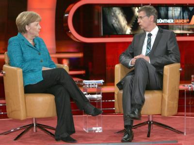 Bundeskanzlerin Angela Merkel zu Gast bei Günther Jauch.