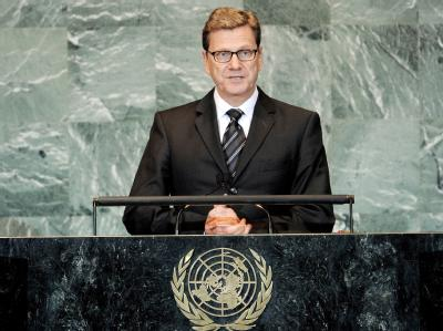 Außenminister Westerwelle drängt Israelis und Palästinenser zu neuen Friedensgesprächen.