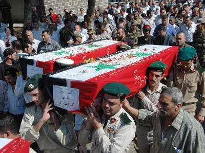 Begräbnis in Homs