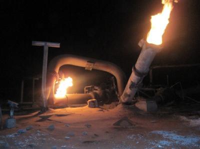 Brennende Pipeline