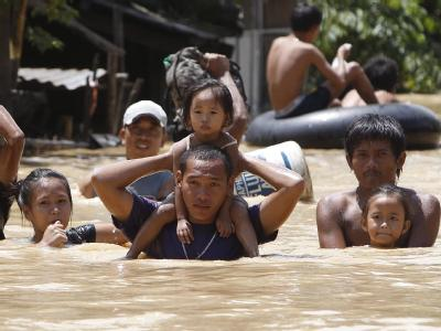 Flucht vor dem Sturm: «Nalgae» soll am Wochenende auf den Philippinen ankommen.