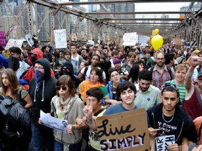 Mehr als 700 Demonstranten wurden in New York festgenommen.