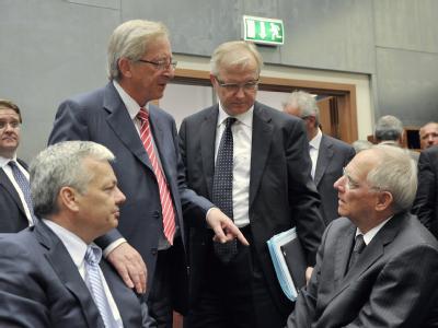 Finanzminister Schäuble im Kreis seiner Euro-Kollegen.