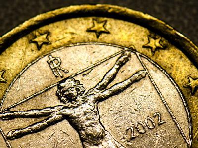 Eine italienische Euromünze. Foto: Arno Burgi