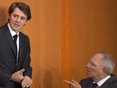 Francois Baroin und Wolfgang Sch�uble