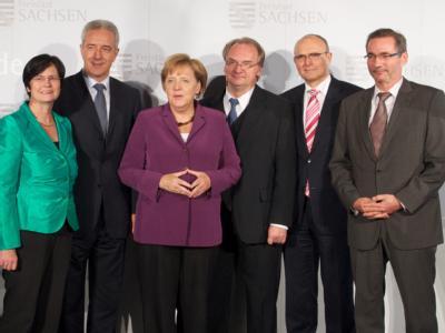 Ost-Regierungschefs treffen sich mit Angela Merkel