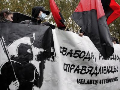 Oppositionelle protestieren in Minsk