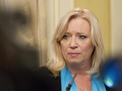 Die slowakische Ministerpräsidentin Iveta Radicova verlor eine Parlamentsabstimmung über die Rettungsschirm-Ausweitung, die sie mit der Vertrauensfrage verknüpft hatte. Foto: Peter Hudec