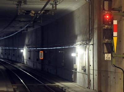 Tunneleinfahrt zum Berliner Hauptbahnhof: An verschiedenen Stellen in Berlin und Brandenburg wurden Brandsätze an Bahnanlagen gefunden. Foto: Britta Pedersen