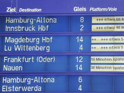 Anzeigetafel im Berliner Hauptbahnhof. Foto: Maurizio Gambarini